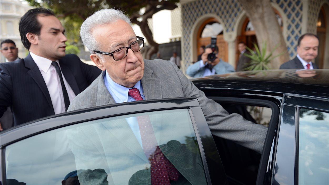 Lakhdar Brahimi au Caire, le 18 mars dernier