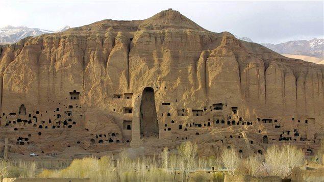 L'emplacement des Boudhas de Bamiyan, qui ont été détruits par les talibans.
