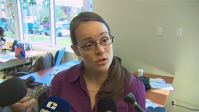 Véronique Lalande, du comité Vigilance Port de Québec