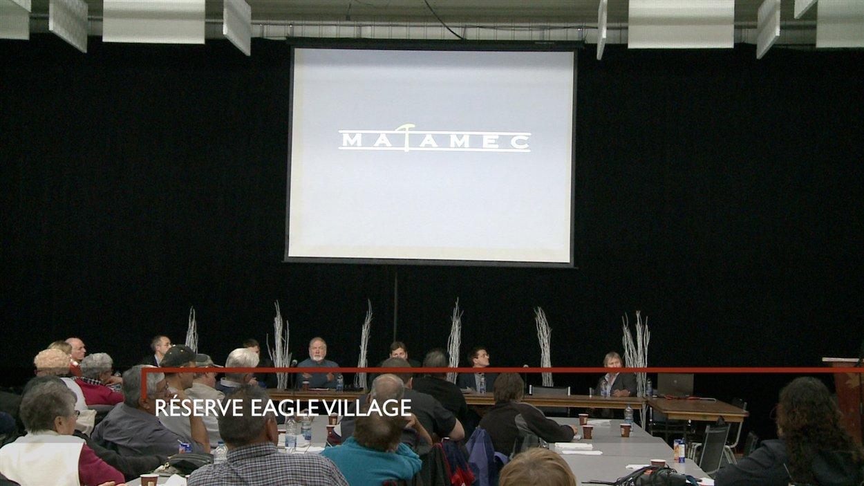 La rencontre d'information organisée par Matamec à Eagle Village