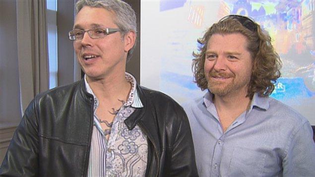 Richard Dagenais, directeur de création et Martin Genest, metteur en scène