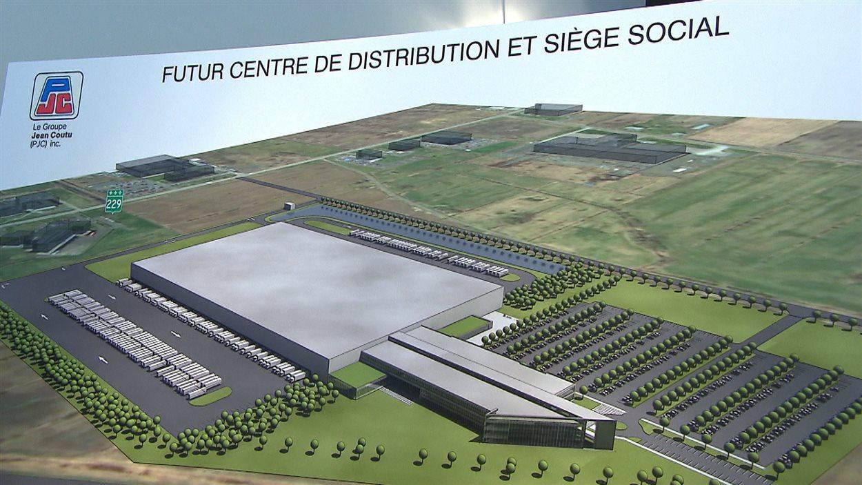 Dessin du nouveau siège social et de distribution de Jean Coutu