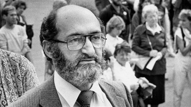 Protestation pour le droit à l'avortement en 1983 avec le Dr Henry Morgentaler