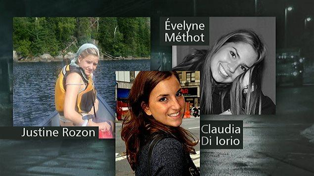 Photos  des trois adolescentes qui ont été blessées