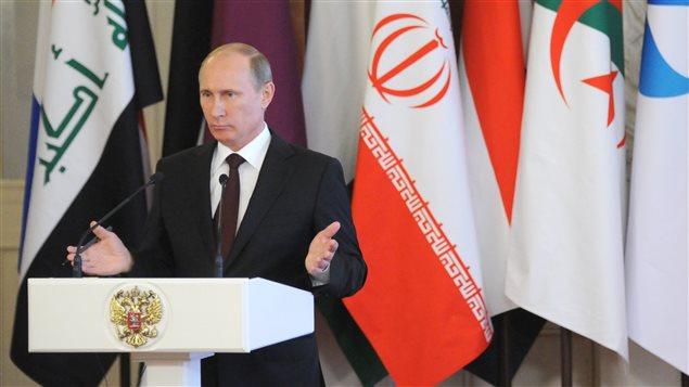 Le président russe Vladimir Poutine en conférence de presse au Kremlin, le 1er juillet 2013