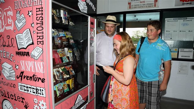 Une des machen-ô-livres reçoit ses premiers clients.