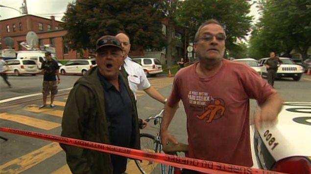 Des résidents de Lac-Mégantic crient leur colère à Edward Burkhardt