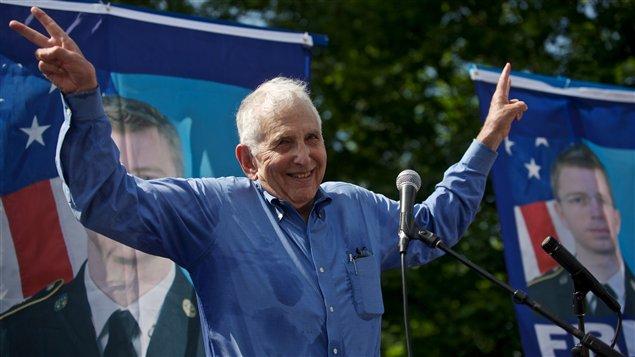 L'ex-analyste militaire de la guerre du Vietnam Daniel Ellsberg lors d'un rassemblement en soutien à Bradley Manning, le 1er juin 2013, au Maryland.