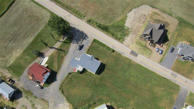 Photo prise par un drone à Saint-Liboire, en Montérégie.