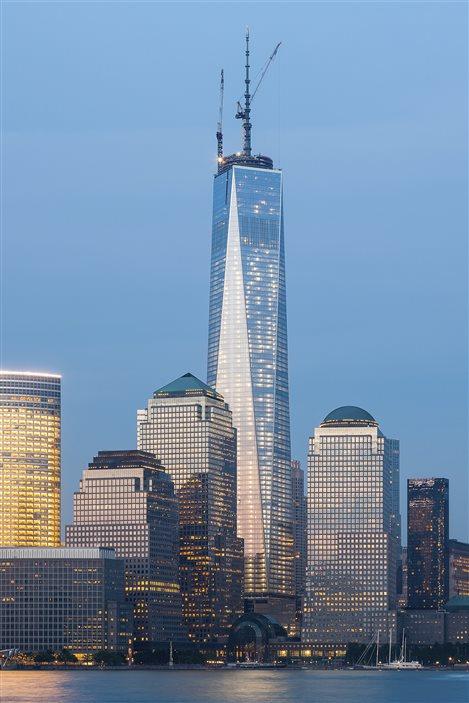 Le One World Trade Center dans le paysage new-yorkais.