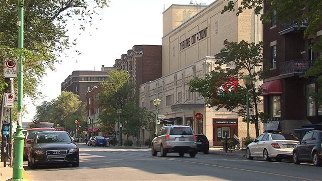 Rue de Montréal, dans l'arrondissement d'Outremont