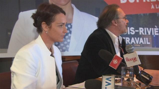 La candidate à la mairie de Trois-Rivières Catherine Dufresne