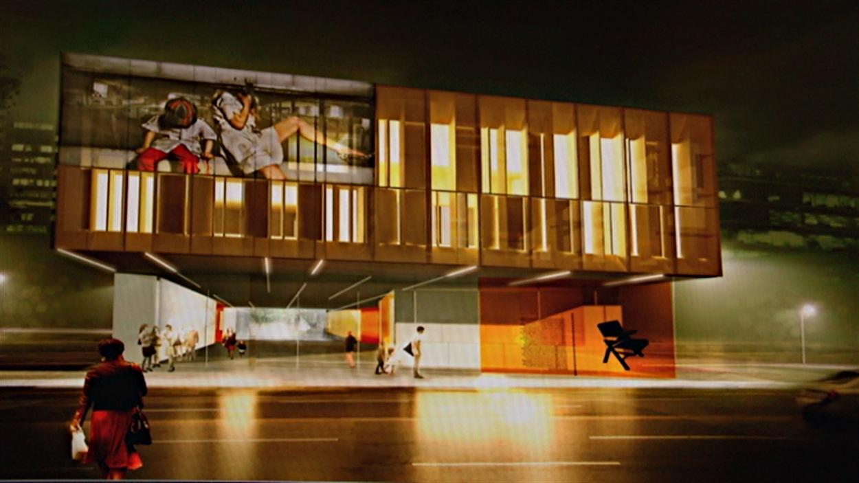 Un aperçu du futur bâtiment de La Nouvelle scène à Ottawa.