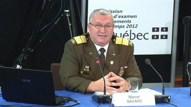 Marcel Savard, directeur général adjoint de la Sûreté du Québec, témoigne à la commission Ménard, le 19 novembre