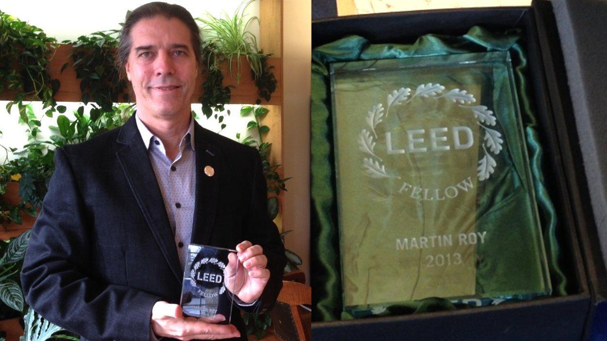 Martin Roy, premier ingénieur québécois à recevoir le titre de Leed Fellow, pour la construction durable.