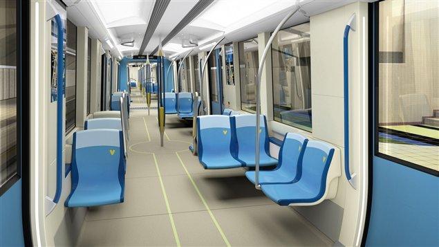 La voiture azur roule dans le m tro de montr al ici for Metro interieur