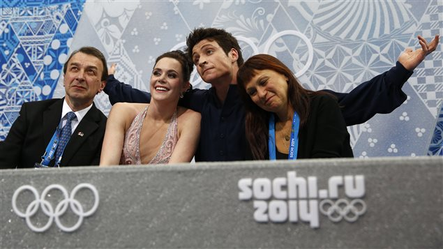 Tessa Virtue et Scott Moir, médaillés d'argent à Sotchi