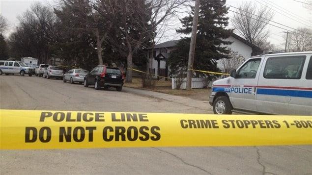 C'est dans cette résidence de Calgary que 5 personnes ont été poignardées à mort.