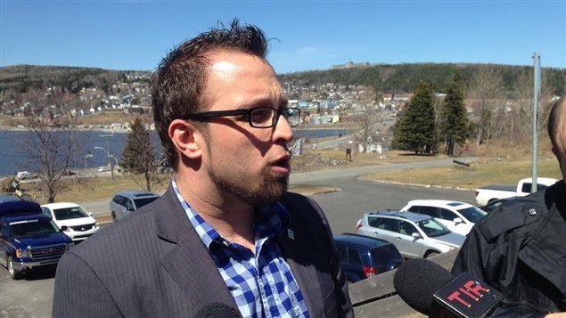 Le maire de Gaspé, Daniel Côté