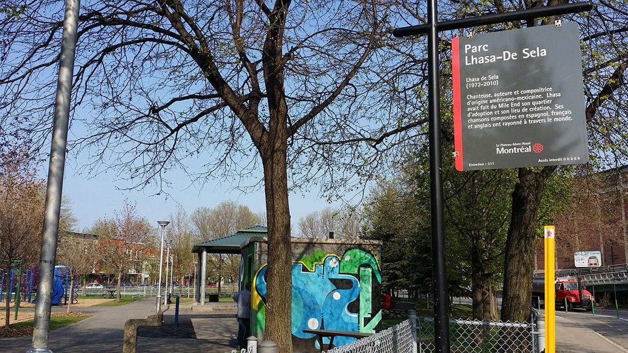 Le parc Lhasa-De Sela à Montréal.