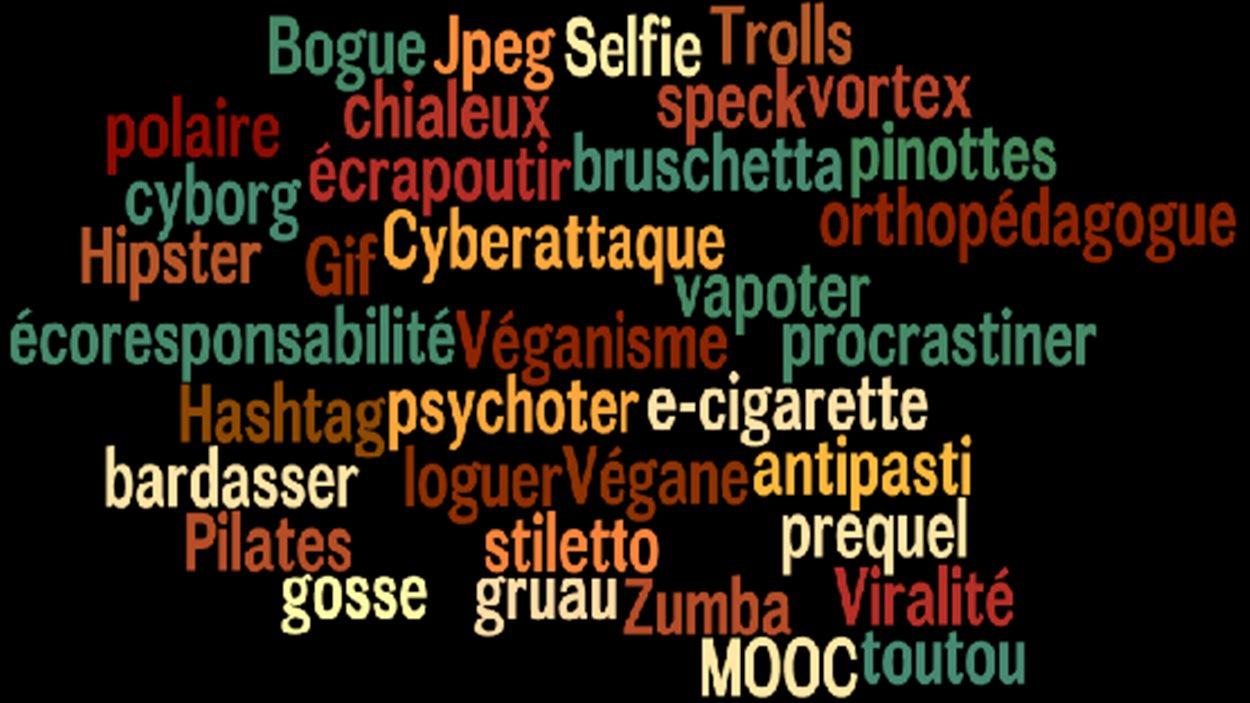 Quelques nouveaux mots rajoutés dans les éditions 2015 des dictionnaires Larousse et Robert.