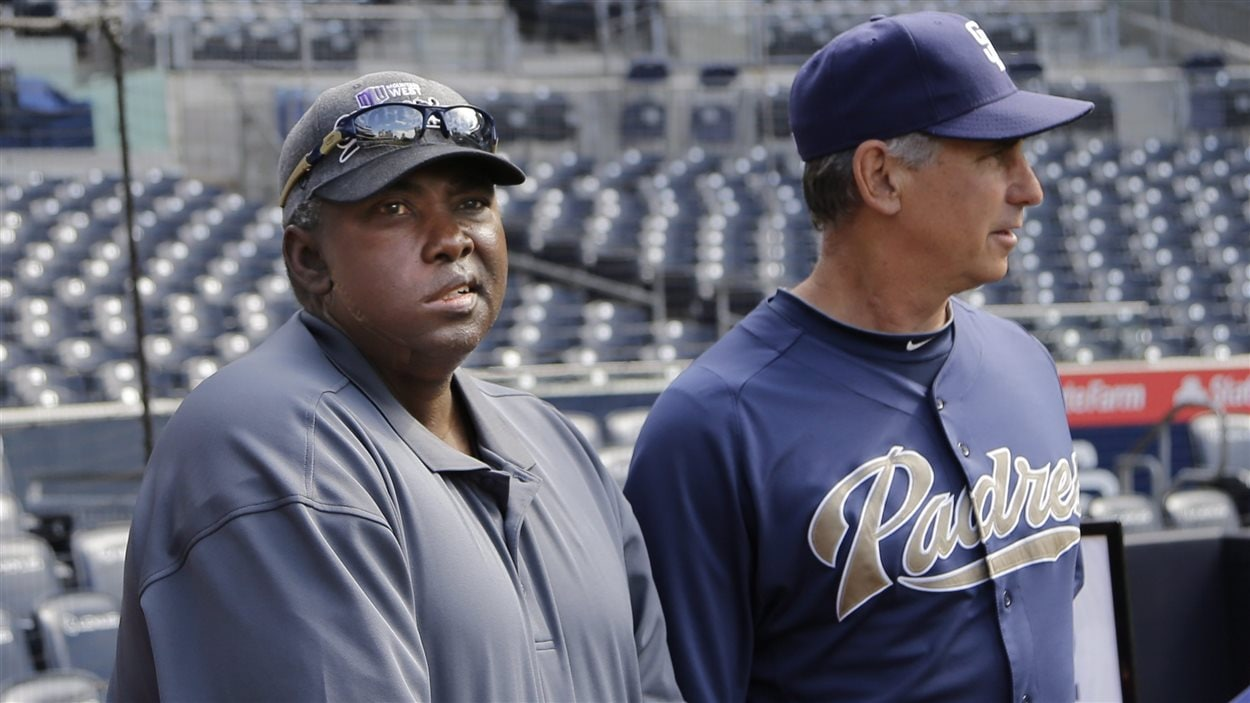 Tony Gwynn (à gauche) avec le gérant des Padres de San Diego, Bud Black, en 2013.