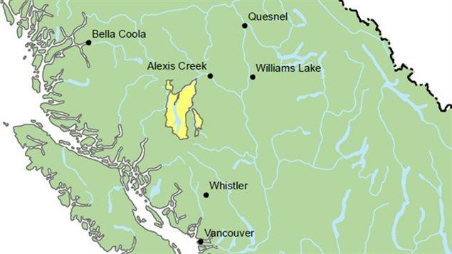 La Cour suprême du Canada accorde aux Tsilhqot'in un titre ancestral autochtone sur un territoire situé près de Alexis Creek et Williams Lake.