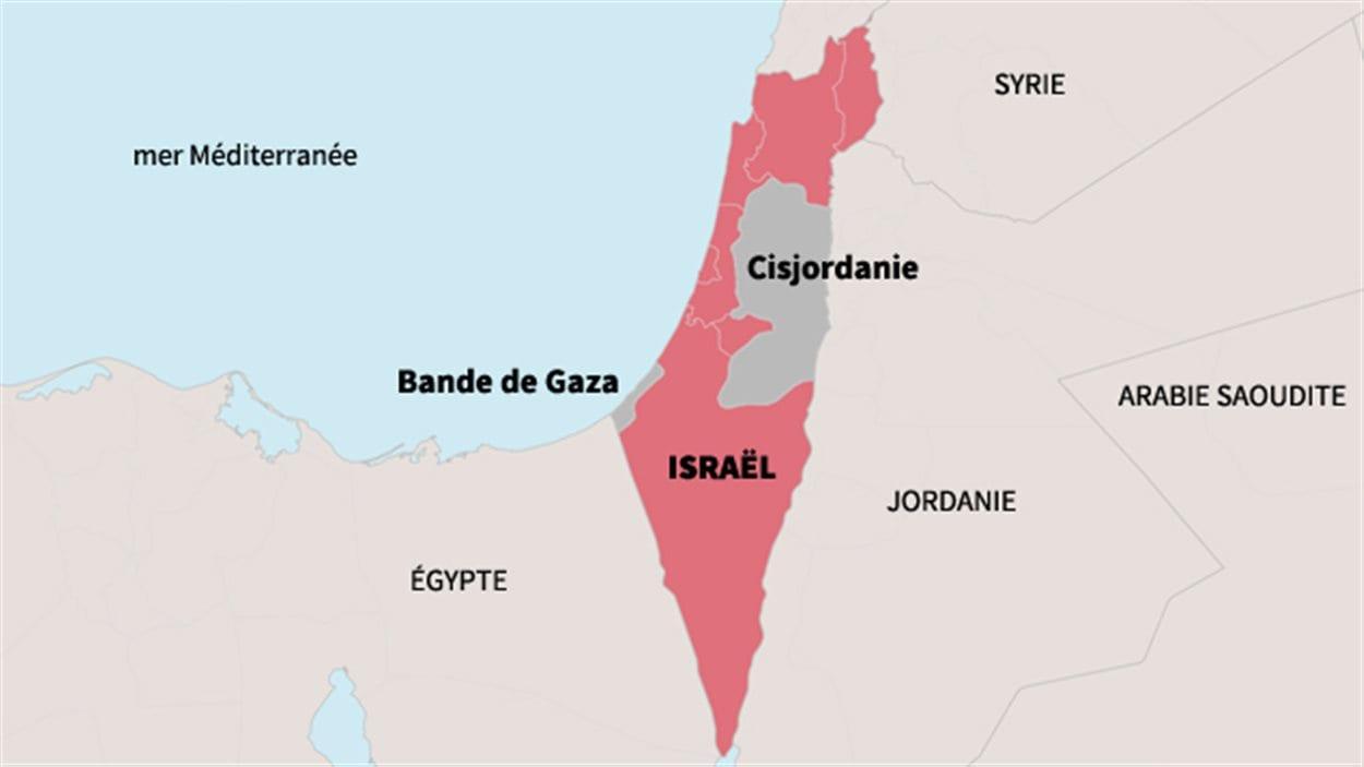 Carte d'Israël