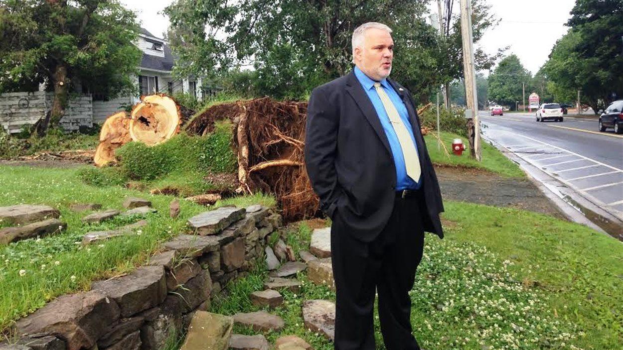 Kevin Haché, maire de Caraquet
