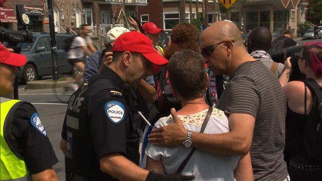 Un incident s'est produit lors de la manifestation.