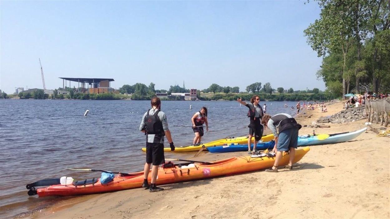 Kayak à l'île Saint-Quentin