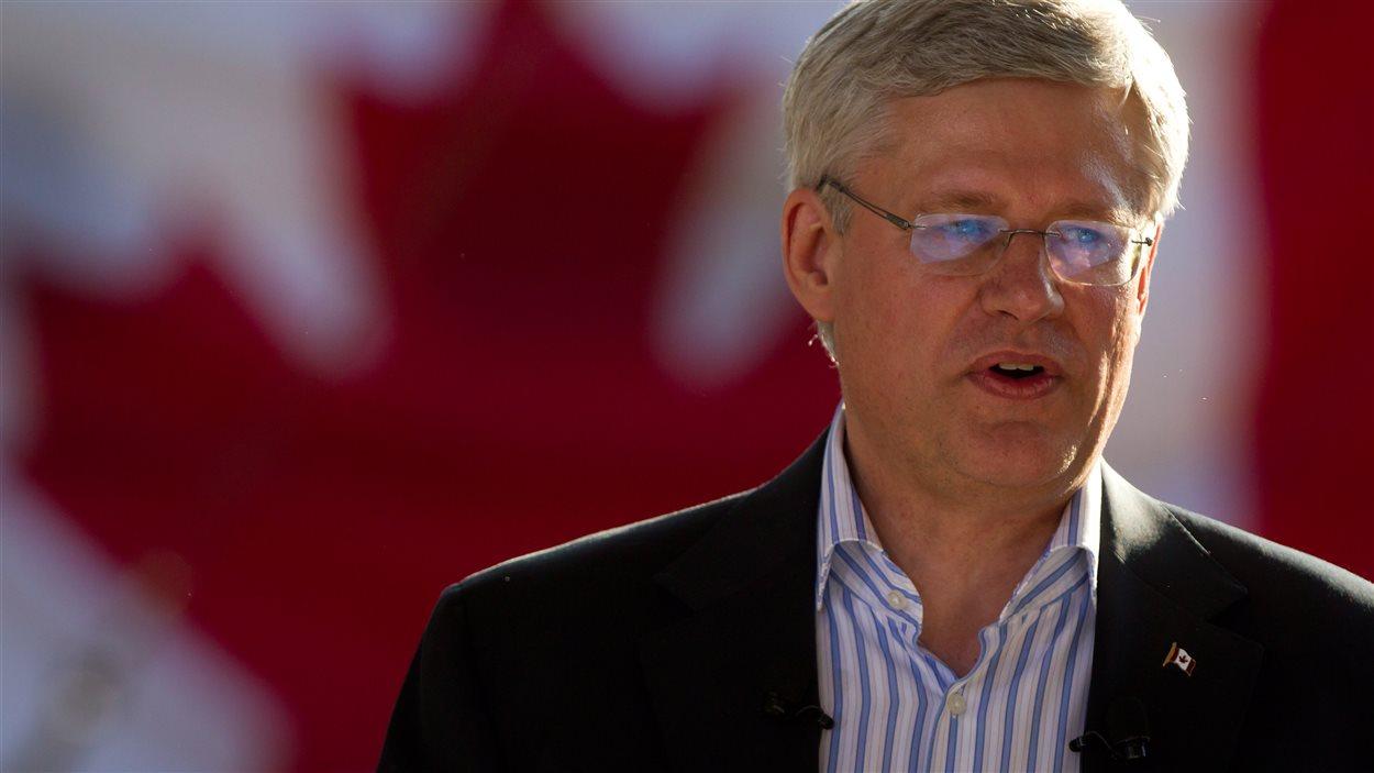 Le premier ministre Stephen Harper était de passage en Colombie-Britannique le mercredi 20 août 2014.