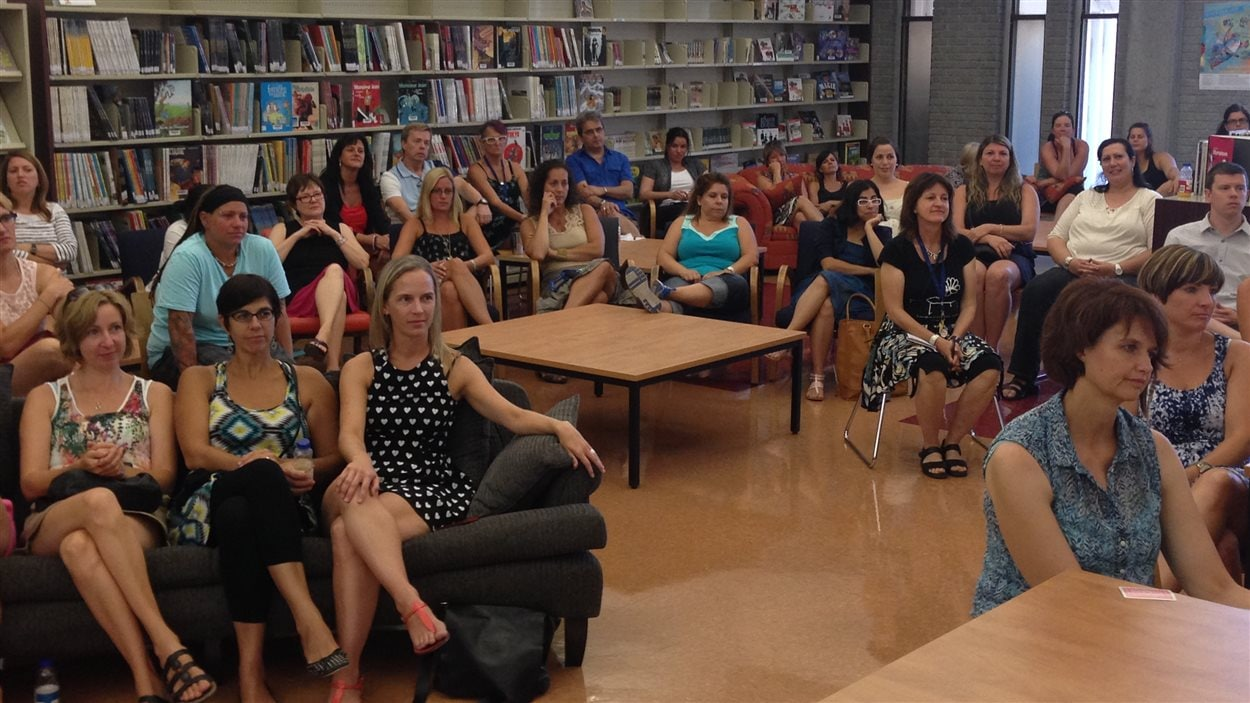 Les enseignants de l'école Père-Marquette, à Montréal, se préparent à la rentrée.