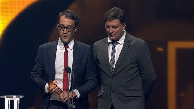 François Létourneau et Jean-François Rivard ont remporté un prix Gémeaux dans la catégorie «Meilleur texte : série dramatique».