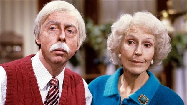 Gilles Latulippe et Janine Sutto dans «Poivre et sel» en 1987.