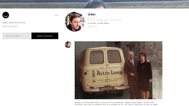 Visuellement, la plateforme d'Ello rappelle celle de Tumblr