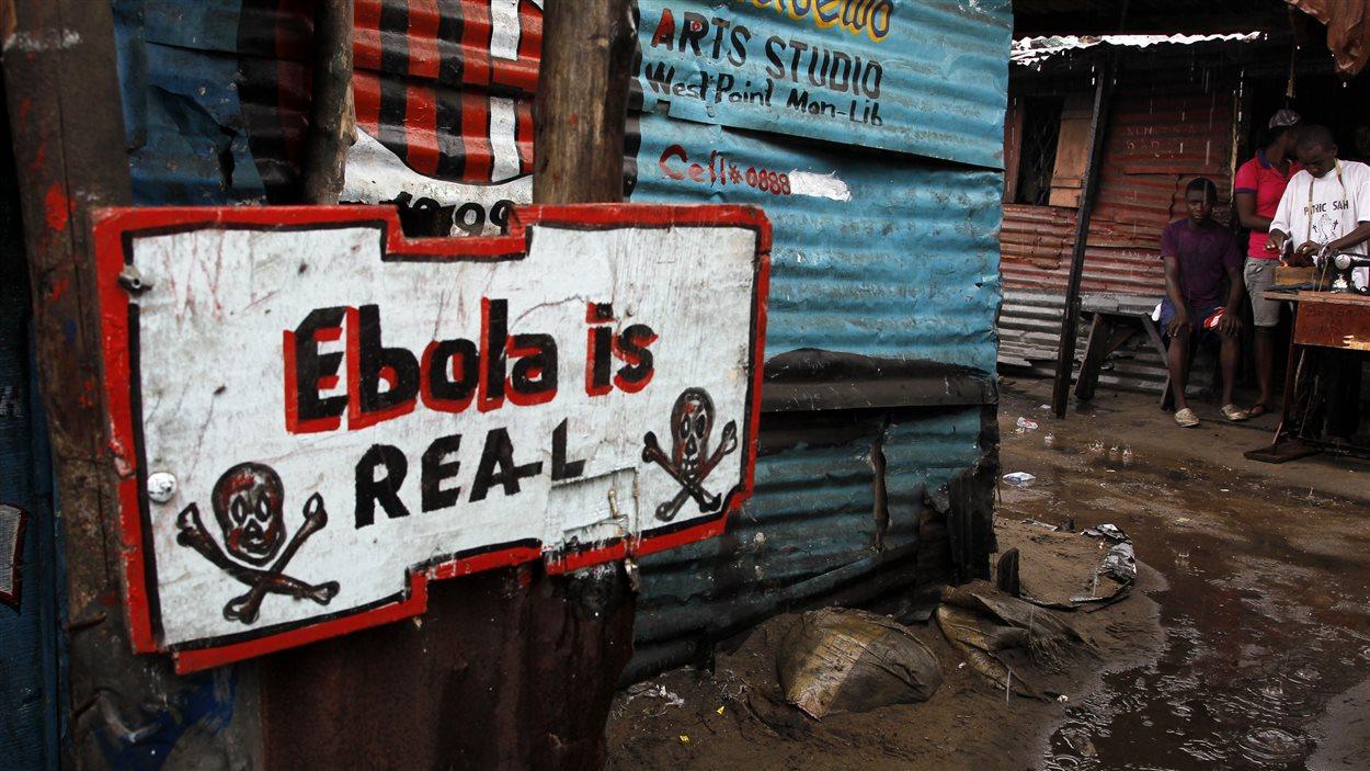 Affiche sur l'Ebola au Liberia