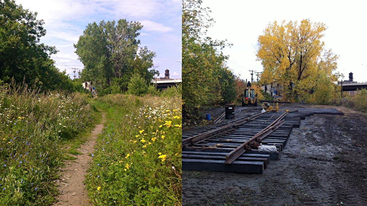 Le canadian pacific d truit un espace vert du mile end for Espace vert quebec