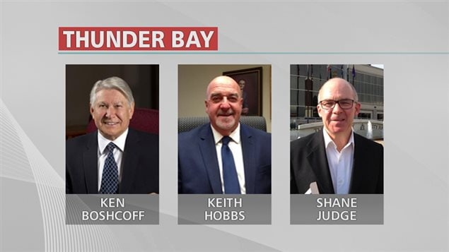Candidats à la mairie de Thunder Bay