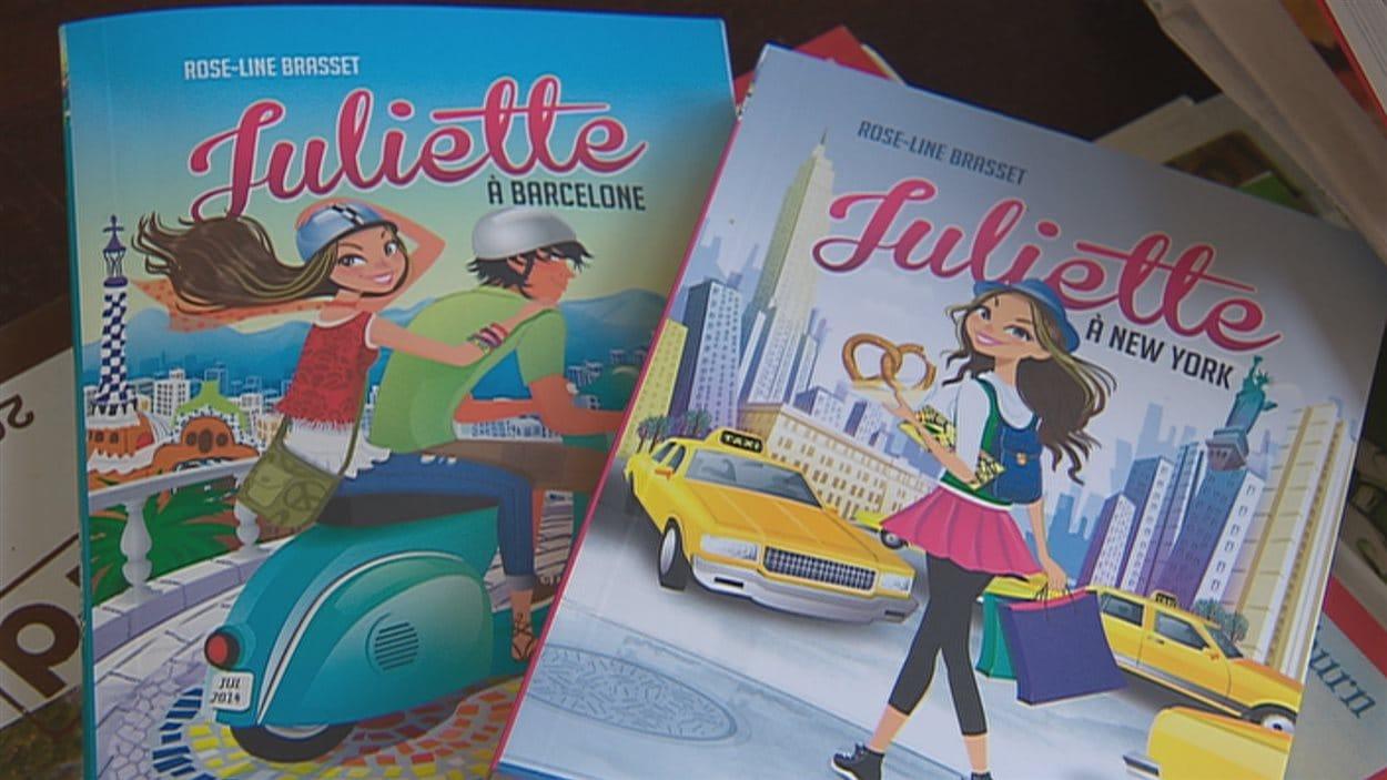 Les livres Juliette à Barcelone et Juliette à New York sont créés par l'auteure de Québec Rose-Line Brasset.