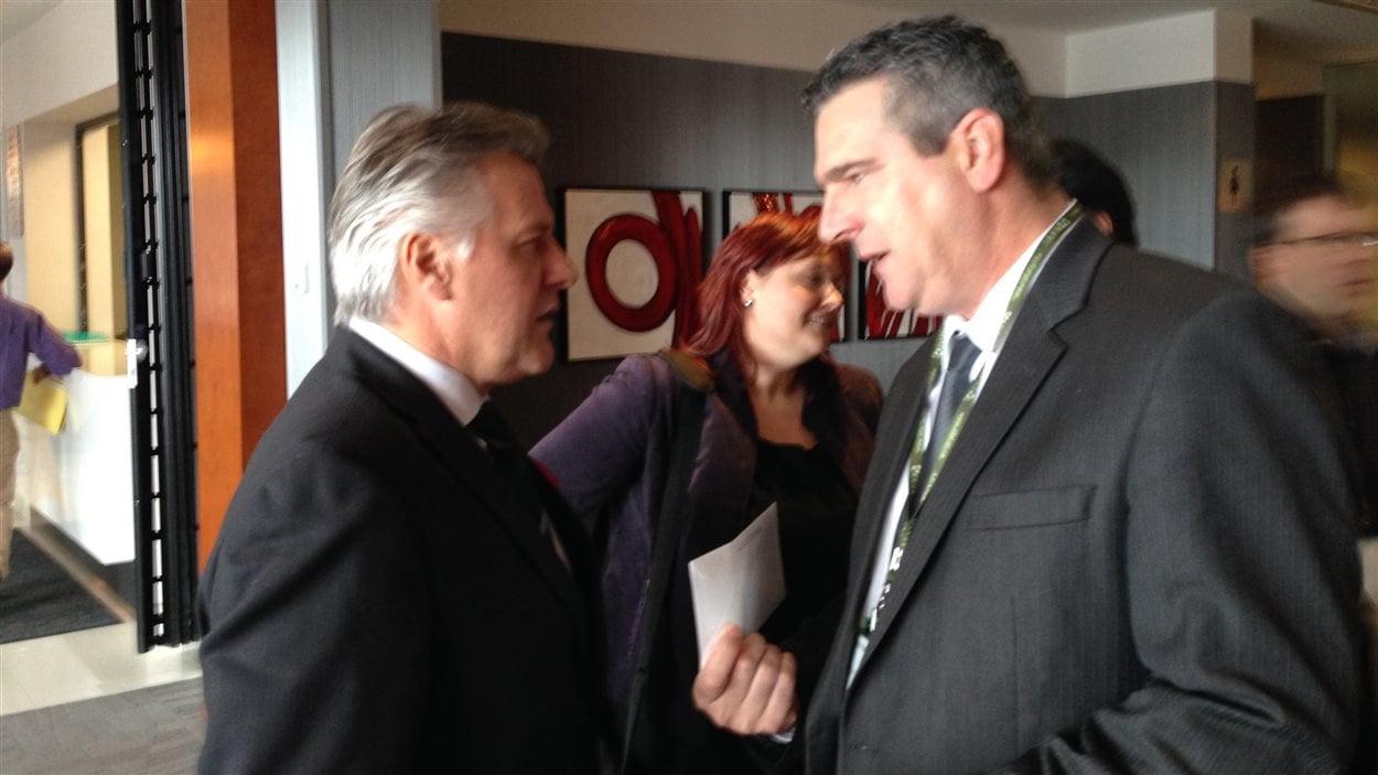 Le ministre Laurent Lessard et Jean-Maurice Matte