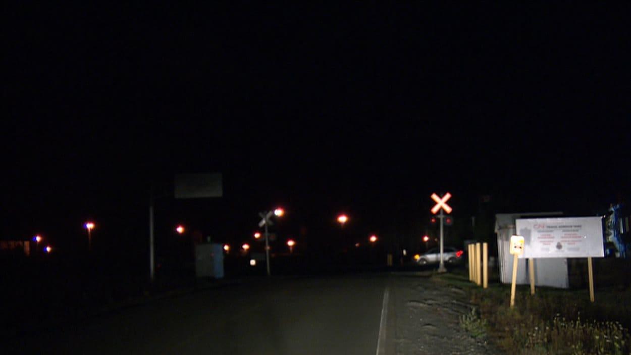 Gare de triage Gordon, où a eu lieu le déraillement