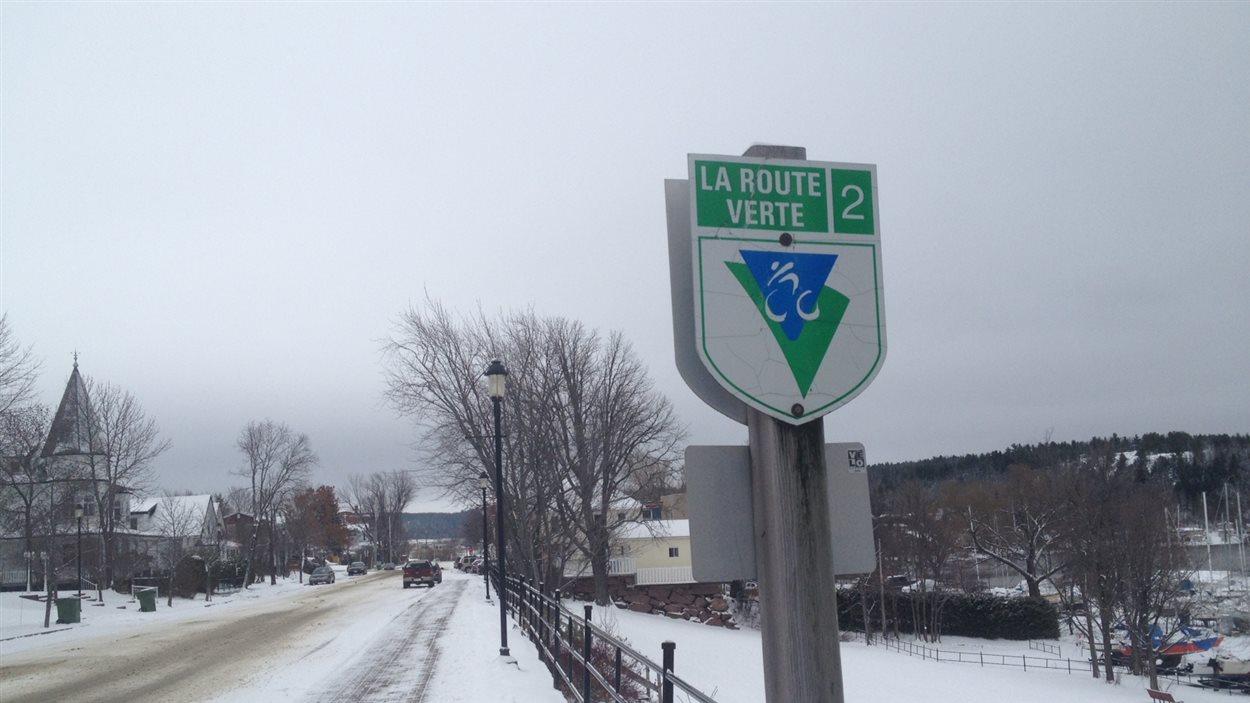 La Route verte, dans le secteur de Ville-Marie
