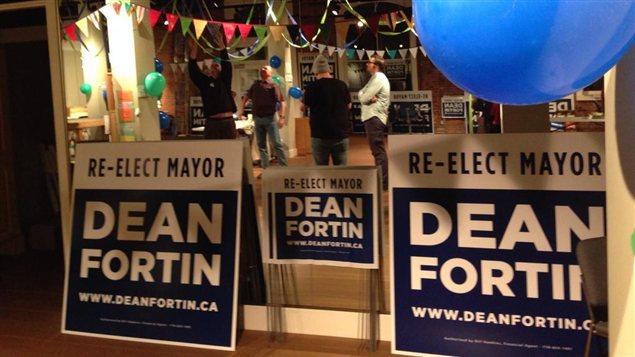 Un bureau de campagne de Dean Fortin
