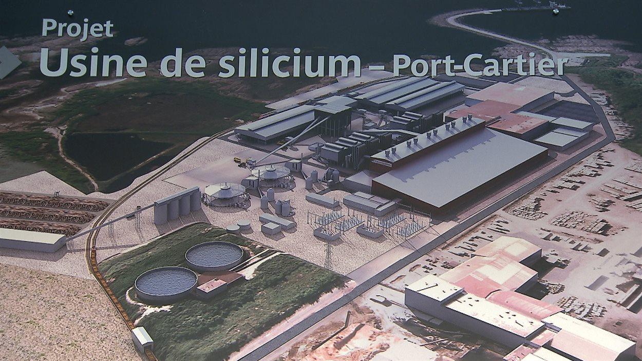Projet d'usine de silicium de Port-Cartier