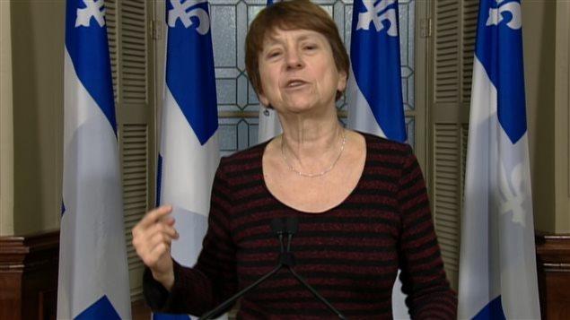 La députée et porte-parole de Québec solidaire, Françoise David