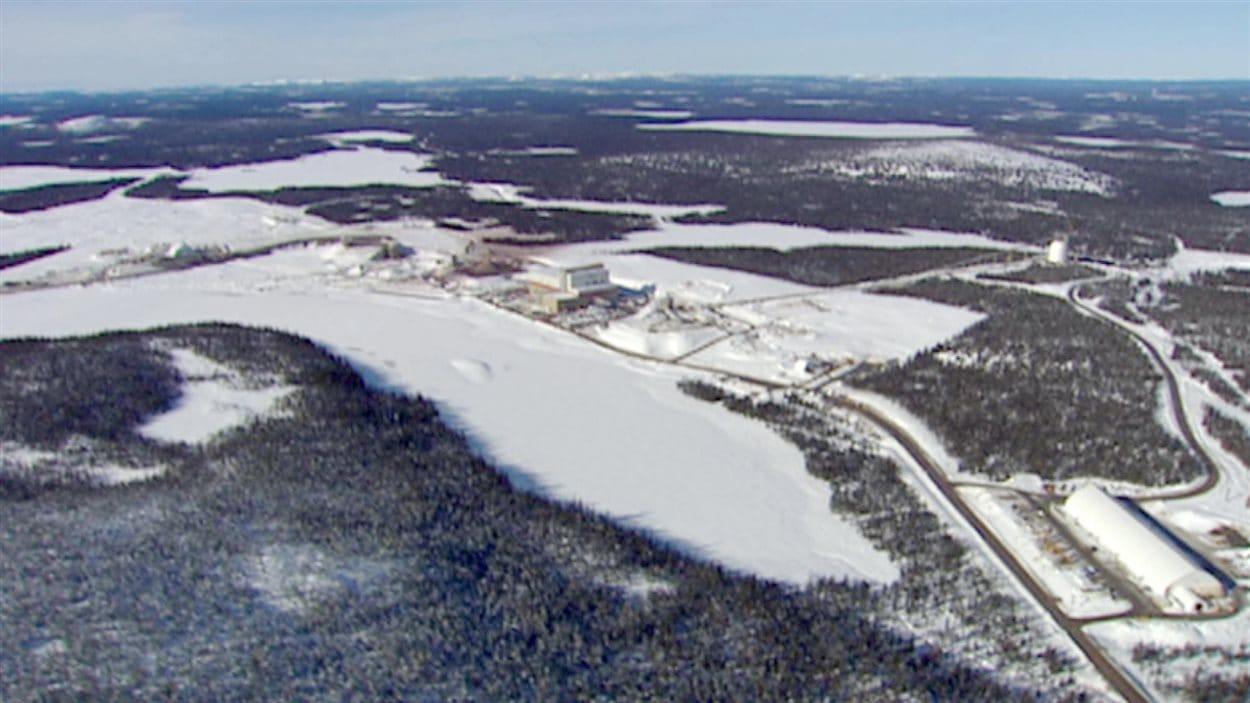 Une vue aérienne du projet du Lac Bloom.