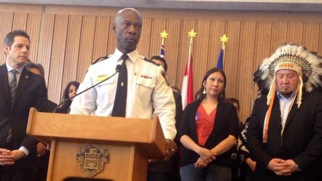 Le chef du Service de police de Winnipeg Devon Clunis