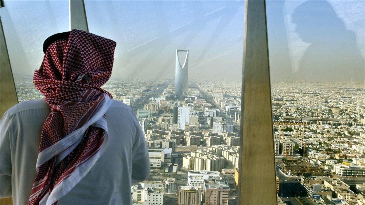 Vue sur le gratte-ciel Al Faisaliah Center, à Riyad