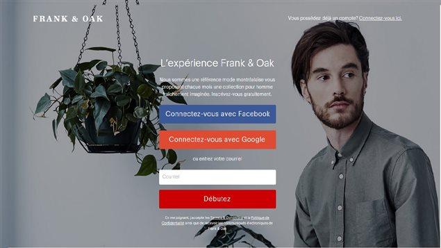 La boutique pour homme Frank and Oak, à Montréal, a fait le pari de la vente en ligne.
